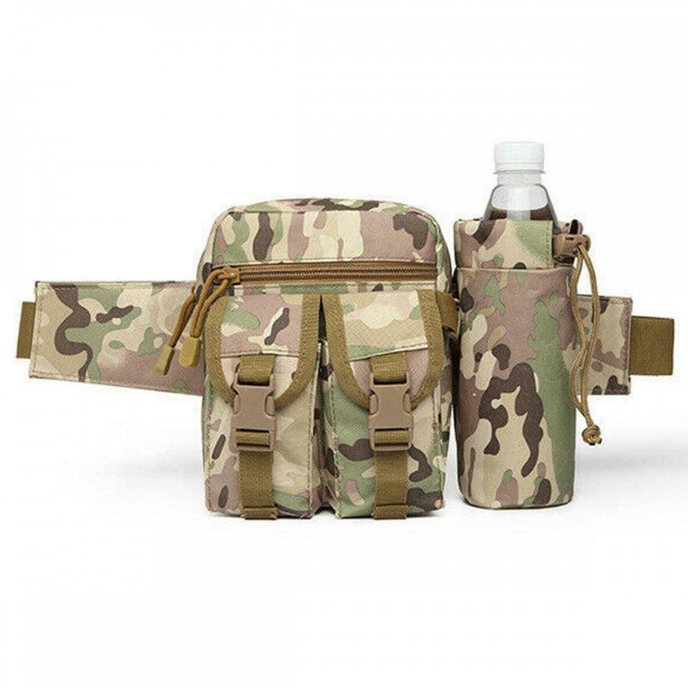 Borseta drumetie Game Tactical Waist Bag Camo Verde Deschis