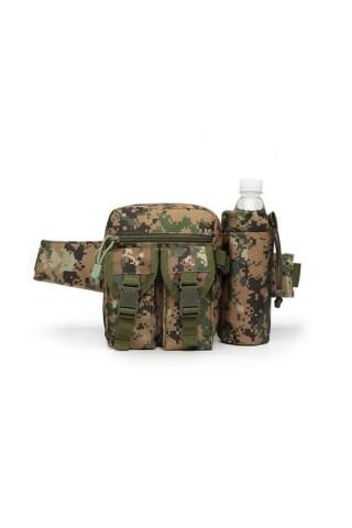 Borseta drumetie Game Tactical Waist Bag Digital Camo Verde