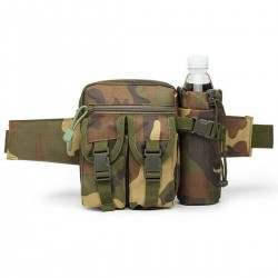 Borseta drumetie Game Tactical Waist Bag Woodland Camo Verde