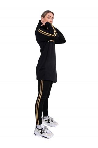 Trening femei J5 Fashion Twin Stripe Negru