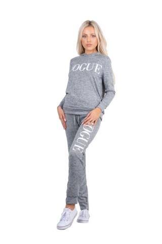 Trening femei J5 Fashion Vogue Hood Gri