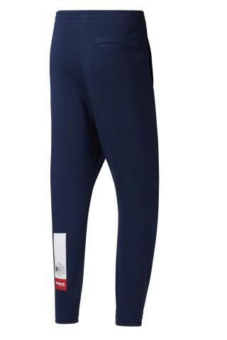 Pantaloni sport barbati Reebok AC Fleece Bleumarin
