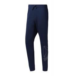 Pantaloni sport barbati Reebok Big Logo Albastru
