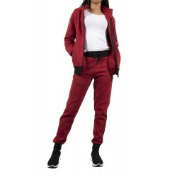 Trening femei J5 Fashion Zip Up TS2437 Visiniu
