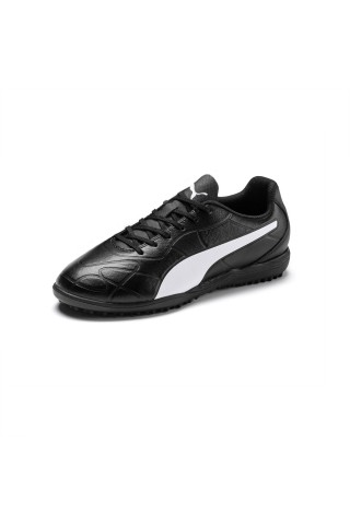 Ghete fotbal copii Puma Monarch II TT JR Negru