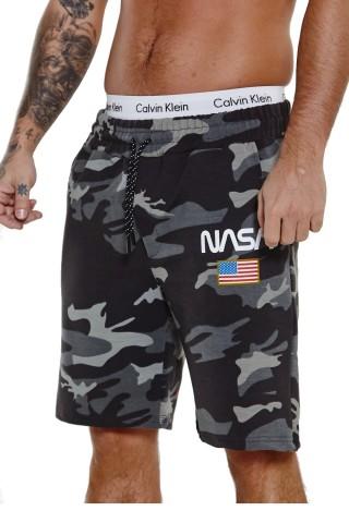 Pantaloni scurti barbati Redox SH3711 Camo Negru