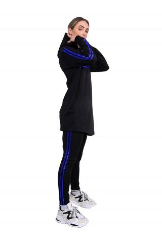 Trening femei J5 Fashion Twin Stripe Negru Albastru