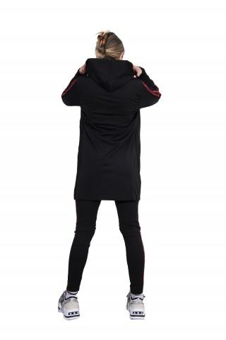 Trening femei J5 Fashion Twin Stripe Negru Rosu