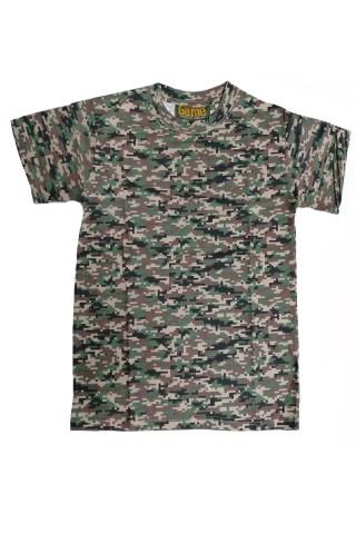 Tricou barbati Game Tehnical Apparel SS Tshirt Digital Woodland Verde