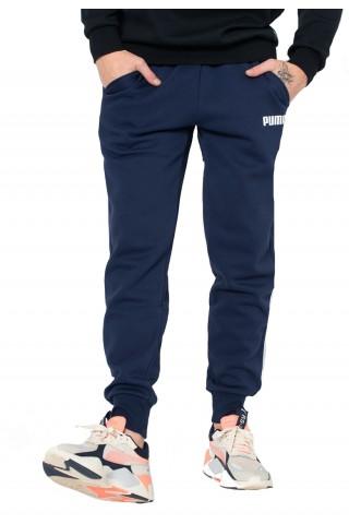 Pantaloni sport barbati Puma Essential Fleece Bleumarin