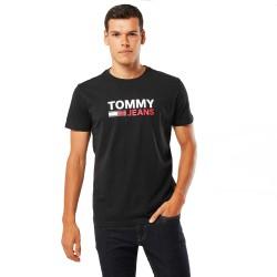 Tricou barbati Tommy Jeans Corp Logo Tee Negru