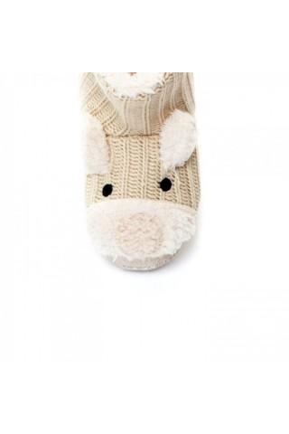 Papuci de casa copii Trespass Sootie White