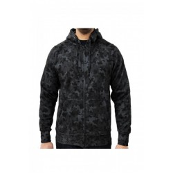 Hanorac barbati Game Technical Apparel Zip Hoodie Night Camo Negru