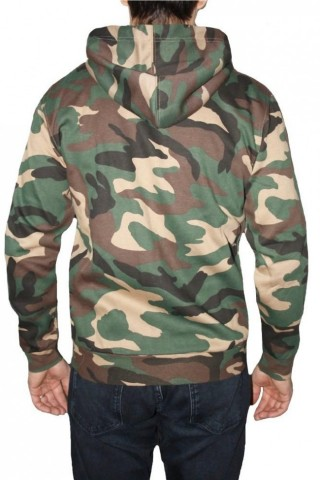 Hanorac barbati Game Technical Apparel Zip Hoodie Woodland Verde