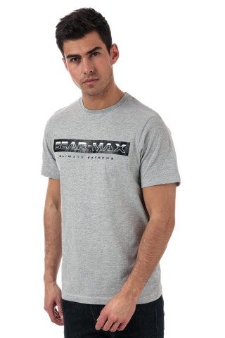 Tricou barbati Bearmax Glacier Grey
