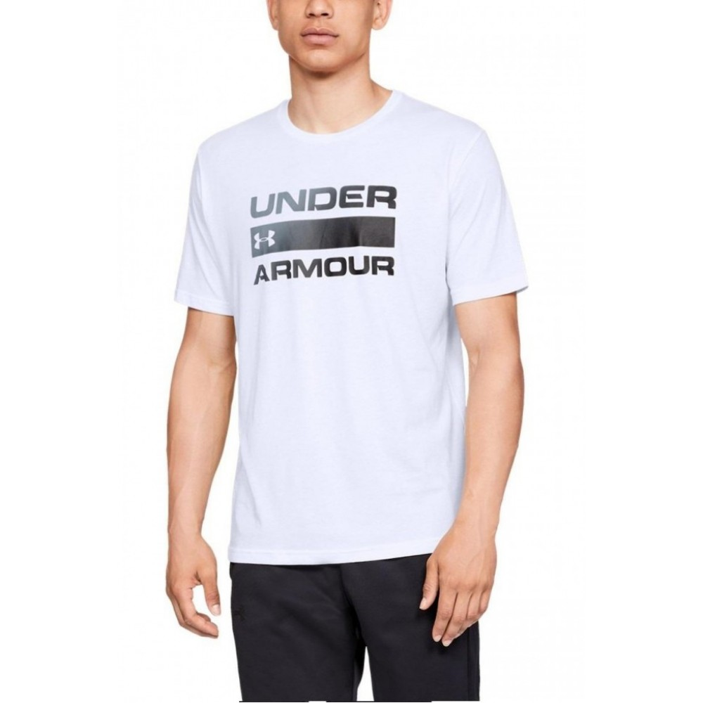 Tricou barbati Under Armour Team Issue Wordmark Alb