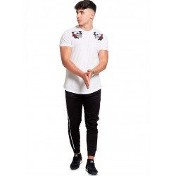 Pantaloni sport barbati J5 Fashion TR19 Stripe Negru