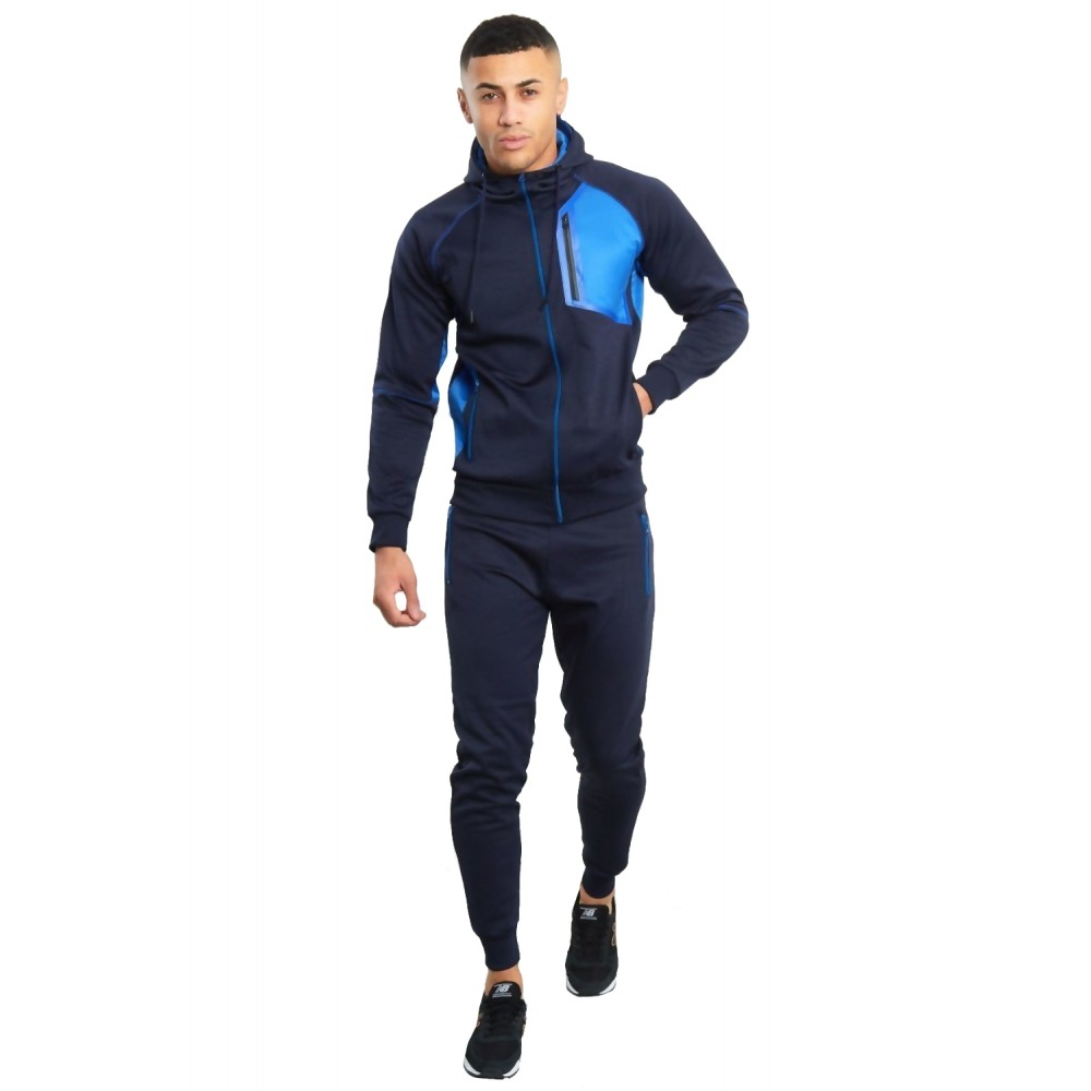 Trening barbati J5 Fashion TS2367 Funnel  Bleumarin