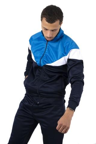 Trening barbati J5 Fashion TS2417 Colourblock Bleumarin