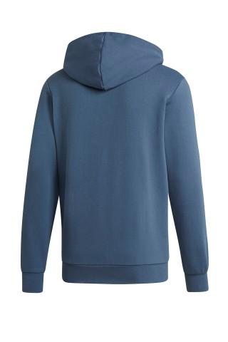 Hanorac barbati Adidas Ess 3 Stripe FZ Hoodie Albastru
