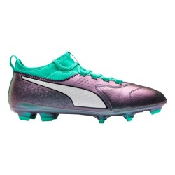 Ghete fotbal barbati Puma One 3 IL Leather FG Gri