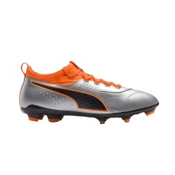 Ghete fotbal barbati Puma One 3 Leather FG Gri