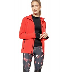 Jacheta femei Under Armour Outrun The Storm Jacket Rosu